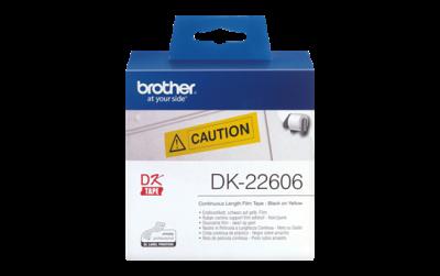 BROTHER - BROTHER DK-22606 ORJİNAL SARI ETİKET RULOSU 62mm x 15.24m