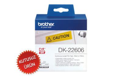 BROTHER - BROTHER DK-22606 ORJİNAL SARI ETİKET RULOSU 62mm x 15.24m (KUTUSUZ ÜRÜN)