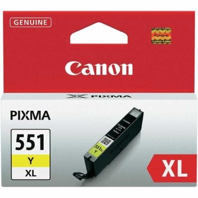 CANON - CANON CLI-551XL Y SARI ORJİNAL KARTUŞ Yüksek Kapasite