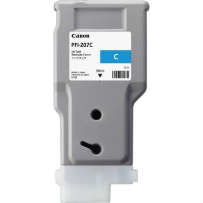CANON - CANON PFI-207C MAVİ ORJİNAL KARTUŞ iPF680 / iPF685 / iPF780 / iPF785