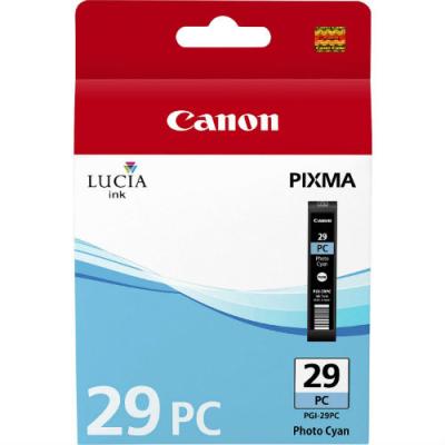 CANON - CANON PGI-29PC FOTO MAVİ (Photo Cyan) ORJİNAL KARTUŞ - Canon Pixma Pro 1
