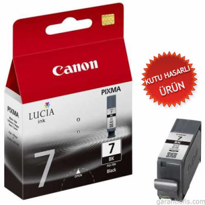 CANON - CANON PGI-7BK SİYAH ORJİNAL KARTUŞ IX7000 / MX7600 (Kutusuz Ürün)