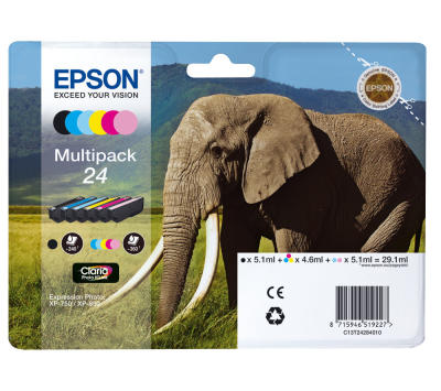 EPSON - EPSON 24 T24284010 Multipack 6lı SET KARTUŞ XP-55, XP-750, XP-760, XP-850