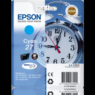 EPSON - EPSON 27 T2702 MAVİ ORJİNAL KARTUŞ WF-3620 / WF-7110 / WF-7610 / WF-7620