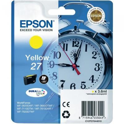 EPSON - EPSON 27 T2704 SARI ORJİNAL KARTUŞ WF-3620 / WF-7110 / WF-7610 / WF-7620