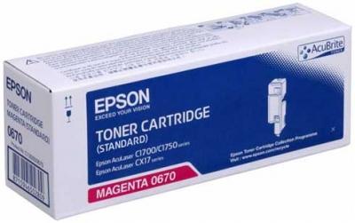 EPSON - EPSON CX17 / C1700 S050670 KIRMIZI ORJİNAL TONER-Standart Kapasite