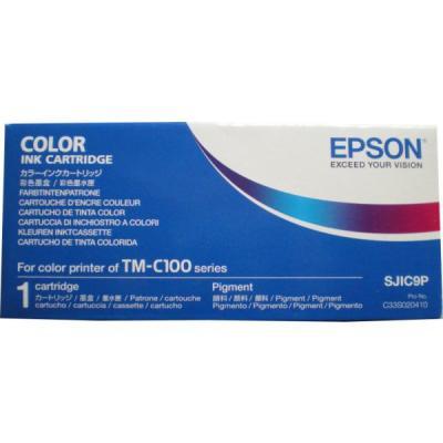 EPSON - EPSON SJIC9P C33S020410 4LÜ PAKET RENKLİ ORJİNAL KARTUŞ TM-C100