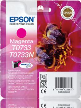 EPSON - EPSON T0733 KIRMIZI ORJİNAL KARTUŞ T20 / T24 / TX100 / TX105 / TX110 / TX115