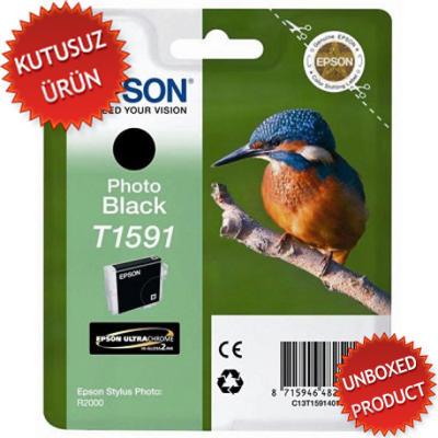 EPSON - EPSON T1591 FOTO SİYAH ORJİNAL KARTUŞ - R2000(Unboxed Product)
