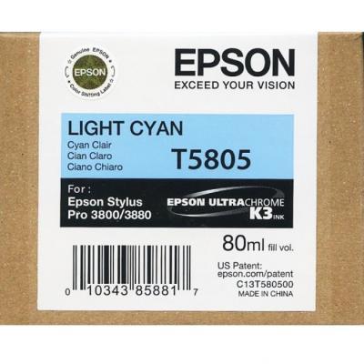 EPSON - EPSON T5805 (C13T580500) AÇIK MAVİ ORJİNAL KARTUŞ - PRO 3800