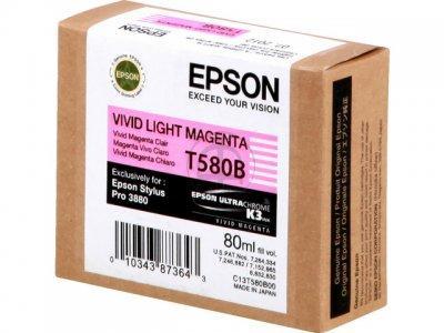 EPSON - EPSON T580B (C13T580B00) AÇIK KIRMIZI ORJİNAL KARTUŞ - PRO 3800