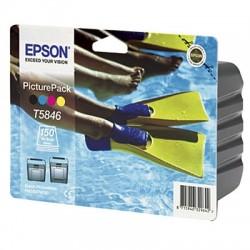 EPSON - EPSON T5846 MULTIPACK ORJİNAL KARTUŞ ve Fotoğraf Kağıdı PictureMate