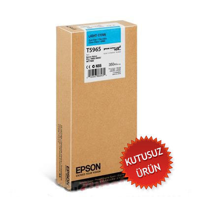 EPSON - EPSON T5965 (C13T596500) AÇIK MAVİ KARTUŞ-Pro 7800 / 7900 / 9800 / 9900 (Kutusuz Ürün)