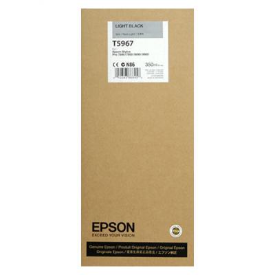EPSON - EPSON T5967 (C13T596700) AÇIK SİYAH ORJİNAL KARTUŞ-Pro 7800 / 7900 / 9800 / 9900