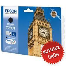 EPSON - EPSON T7031 (T70314010) SİYAH KUTUSUZ ORJİNAL KARTUŞ - WP-4015DN / WP-4025DW / WP-4525