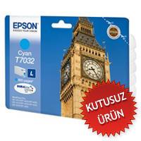 EPSON - EPSON T7032 (T70324010) MAVİ KUTUSUZ ORJİNAL KARTUŞ - WP-4015DN / WP-4025DW / WP-4525