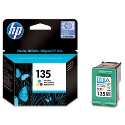 HP - HP 135 C8766HE RENKLİ MÜREKKEP KARTUŞ D4163, C3183, C3184, K7103