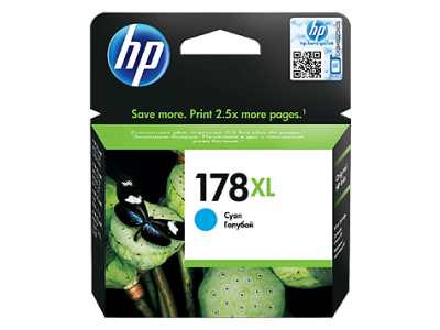 HP - HP 178XL CB323HE MAVİ ORJİNAL KARTUŞ Photosmart 5510 / 5515 / D5463