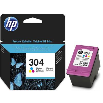 HP - HP 304 N9K05AE RENKLİ ORJİNAL KARTUŞ - DeskJet 3720, 3730