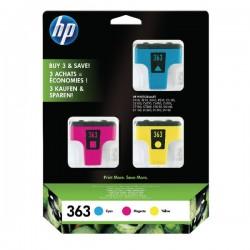 HP - HP 363 CB333EE 3LÜ PAKET Mavi/Kırmızı/Sarı