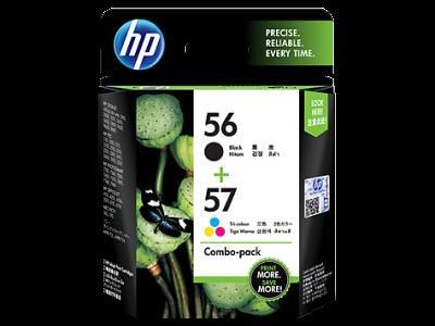 HP - HP 56-57 SİYAH ve RENKLİ 2li PAKET ORJİNAL KARTUŞ (CC629AA)