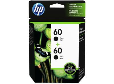 HP - HP 60 CZ071FN SİYAH ORJİNAL 2li PAKET KARTUŞ- Envy 110 / 111 / 114 / 120