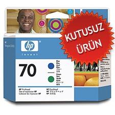 HP - HP 70 C9408A MAVİ-YEŞİL KAFA KARTUŞU (KUTUSUZ ÜRÜN)