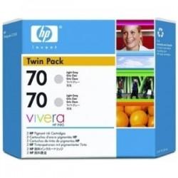 HP - HP 70 CB342A 2Lİ PAKET AÇIK GRİ KARTUŞ Z2100 / Z3100 / Z3200