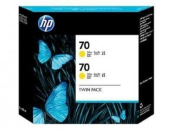 HP - HP 70 CB345A 2Lİ PAKET SARI RENK KARTUŞ