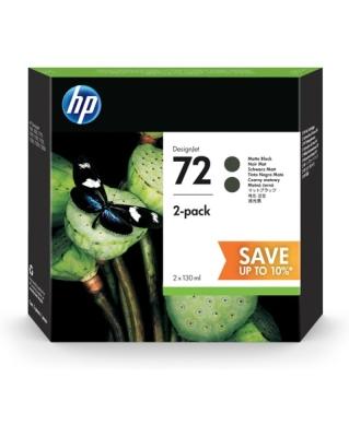 HP - HP 72 P2V33A MAT SİYAH 2Lİ PAKET ORJİNAL KARTUŞ (2 x C9403A)