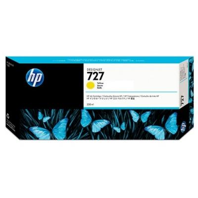 HP - HP 727 F9J78A SARI ORJİNAL KARTUŞ 300 ml T920 / T1500 / T2500