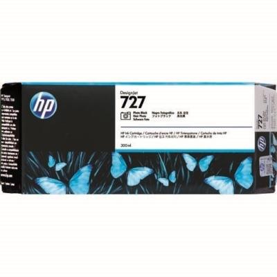HP - HP 727 F9J79A FOTO SİYAH ORJİNAL KARTUŞ 300 ml T920 / T1500 / T2500