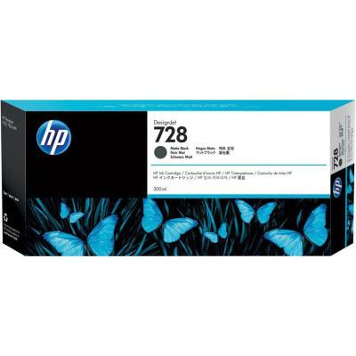 HP - HP 728 F9J68A MAT SİYAH ORJİNAL KARTUŞ 300 ml T730 / T830