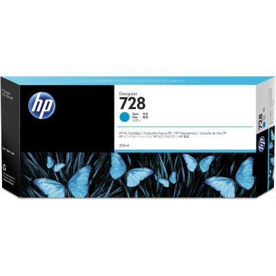 HP - HP 728 F9K17A MAVİ ORJİNAL KARTUŞ 300 ml T730 / T830