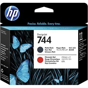 HP - HP 744 F9J88A MAT SİYAH KROMATİK KIRMIZI BASKI KAFASI Z2600 / Z5600