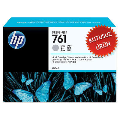 HP - HP 761 CM995A GRİ ORJİNAL KARTUŞ 400 Ml - DesignJet T7100(KUTUSUZ ÜRÜN)