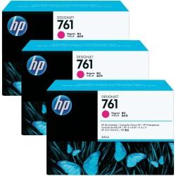 HP - HP 761 CR271A 3lü PAKET KIRMIZI KARTUŞ-T7100