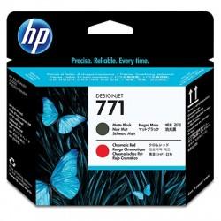 HP - HP 771 CE017A MAT SİYAH-KROMATİK KIRMIZI KAFA KARTUŞU-DesignJet Z6200