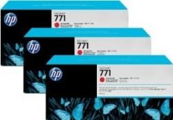 HP - HP 771 CR251A Kromatik Kırmızı 3lü ORJİNAL KARTUŞ - Z6200