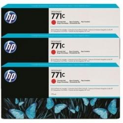 HP - HP 771C B6Y32A Kromatik Kırmızı 3Lü Paket PLOTTER KARTUŞU-DesignJet Z6200