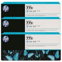 HP - HP 771C B6Y36A Açık Mavi 3Lü Paket PLOTTER KARTUŞU-DesignJet Z6200