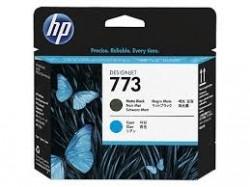 HP - HP 773 C1Q20A MAT SİYAH / MAVİ KAFA KARTUŞU DesignJet Z6600