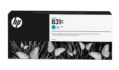 HP - HP 831C CZ695A MAVİ LATEKS KARTUŞ