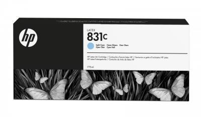 HP - HP 831C CZ698A AÇIK MAVİ LATEKS KARTUŞ