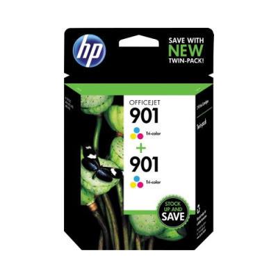 HP - HP 901 CZ076FN RENKLİ 2Lİ PAKET ORJİNAL KARTUŞ