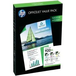 HP - HP 920XL CH081AE Renkli Set Kartuş + 50 Fotoğraf Kağıdı 210 x 297 mm