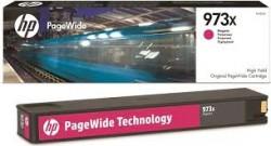 HP - HP 973X F6T82AE KIRMIZI ORJİNAL PageWide KARTUŞU-PageWide Pro 452/477