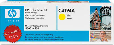 HP - HP C4194A SARI ORJİNAL TONER- HP LASERJET 4500 / 4550 TONERİ