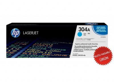 HP - HP CC531A MAVİ ORJİNAL TONER - (C Grade) CP2025 / CM2320 MAVİ TONER