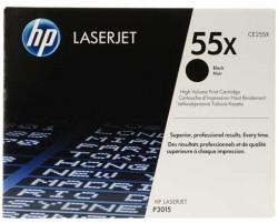 HP - HP CE255X (55X) SİYAH ORJİNAL TONER - HP Laserjet P3015 TONER